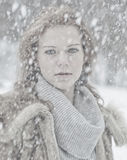 Snow portrait Stock Image