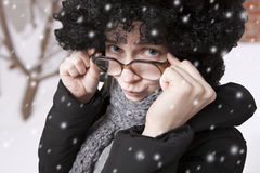 Snow portrait Stock Photography