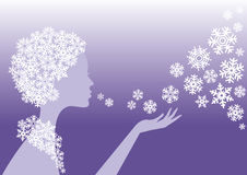 Snow princess Stock Image