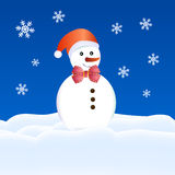 Snow puppet christmas card Stock Images