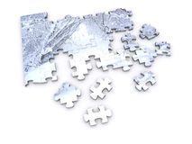 Snow Puzzle Stock Images