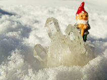 Snow quartz crystal Royalty Free Stock Photos
