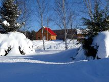 Snow in Quebec. Canada, north America. Royalty Free Stock Photography