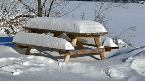 Snow in Quebec. Canada, north America. Stock Photo