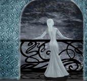 Snow queen. The snow queen on a balcony Stock Image