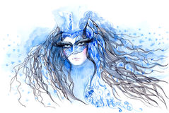 Snow Queen. Beautiful snow queen (Cbm painting Royalty Free Stock Image