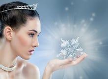 Snow Queen. With a crown Stock Photos