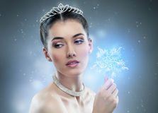 Snow Queen. With a crown Stock Images