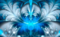 Snow queen. Abstract fractal background in blue tones Stock Photography