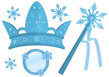Snow Queen Accessories Royalty Free Stock Images