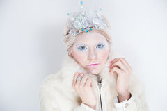 Snow queen beauty make up Stock Image