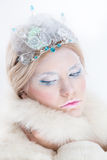 Snow queen beauty make up Stock Photography