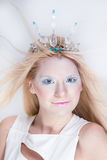 Snow queen beauty make up Royalty Free Stock Image