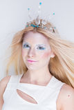 Snow queen beauty make up Stock Photos