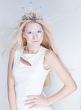 Snow queen beauty make up Royalty Free Stock Photography