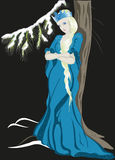 The Snow Queen with a crown. EPS10 vector. Illustration Stock Photo