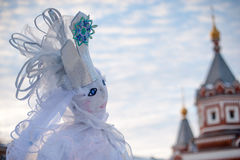 Snow Queen doll for Maslennitsa. Russia, Yaroslavl 16 of February 2015 Stock Image