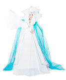 Snow queen, fairy tale. Isolated on white background Stock Image