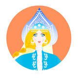 The snow queen icon Royalty Free Stock Image