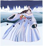 Snow Queen. Illustration - Andersens fairy tales Royalty Free Stock Photography
