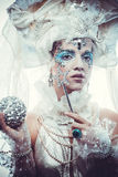 Snow Queen. Over white background Stock Images