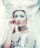 Snow Queen over white background Royalty Free Stock Photography
