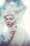 Snow Queen over white background Stock Photography