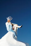 Snow queen on the snow mountain Royalty Free Stock Images