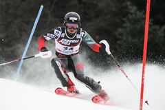 Snow Queen Trophy 2019 - Ladies Slalom royalty free stock image
