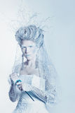 Snow queen with unusual makeup Royalty Free Stock Photography