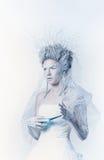 Snow queen with unusual makeup Stock Photo
