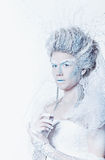 Snow queen with unusual makeup Stock Photography