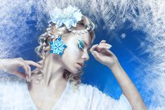 Snow-queen Stock Photography