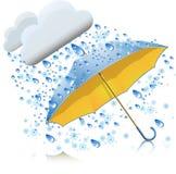 Snow with rain and umbrella Royalty Free Stock Image