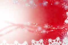 Snow red abstract background Stock Image