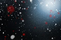 Snow with red flakes Stock Photos