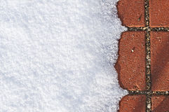 Snow with red floor Stock Image