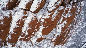 Snow on Red Rocks stock video footage