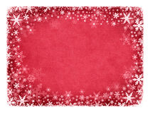 Snow on Red Texture Royalty Free Stock Photography