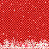 Snow on red transparent background Royalty Free Stock Photo