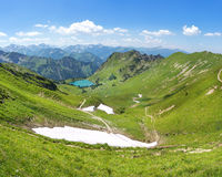 Snow remains in the Allgau Alps Royalty Free Stock Image