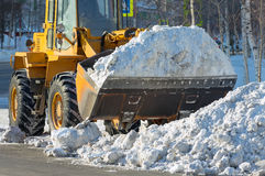 Snow removal. Royalty Free Stock Image