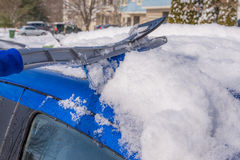 Snow removal from car body Stock Image