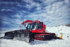Snow removal equipment on the hillside Stock Photography