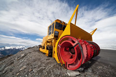 Snow removal equipment in the mountains. Europe .Scandinavia .Norway.Dalsnibba. Snow removal equipment in the mountains Stock Photography