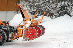 Snow removal Royalty Free Stock Photography