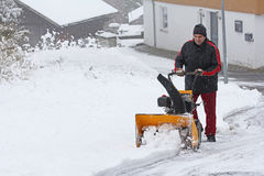 Snow removal Royalty Free Stock Photos
