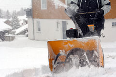 Snow removal Royalty Free Stock Image