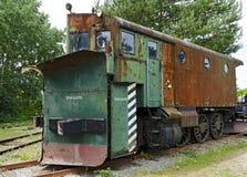 Snow removal  locomotive Royalty Free Stock Photos