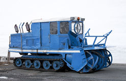 Snow removal machine Royalty Free Stock Photo